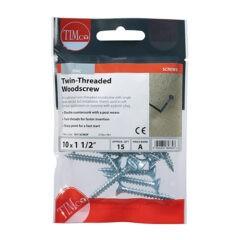Twin-Thread Woodscrew - Zinc - Countersunk
